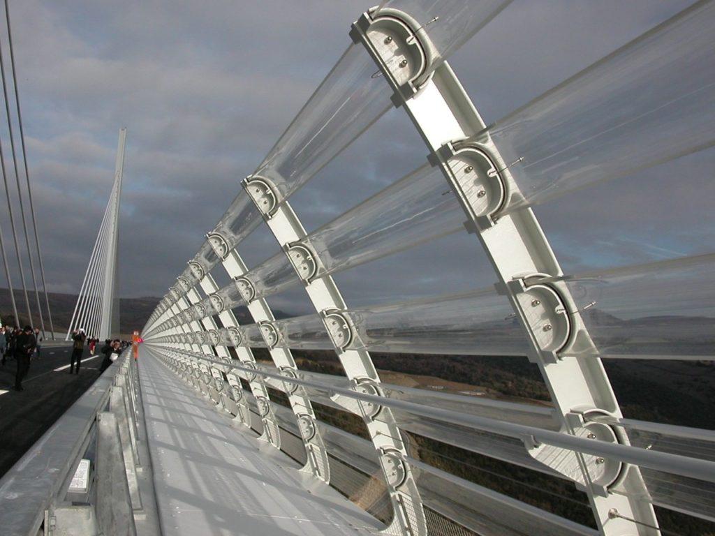 Brise vent du Viaduc de Millau