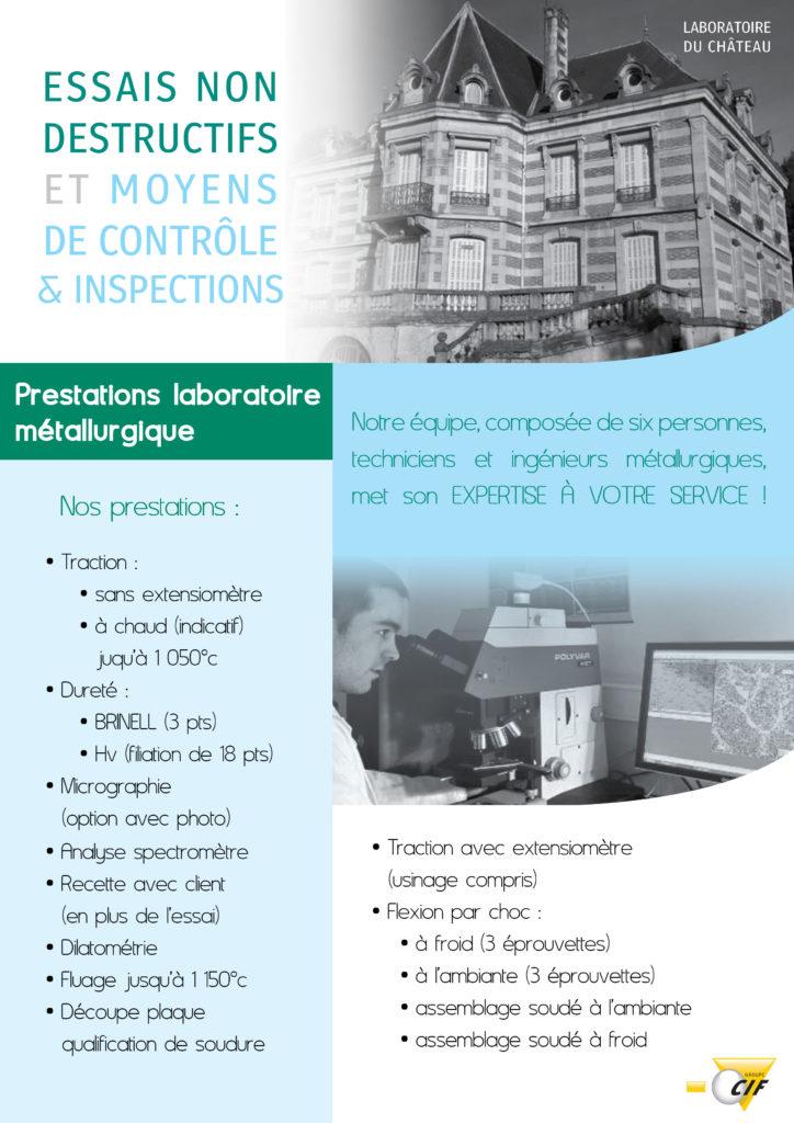 Laboratoire métallurgique