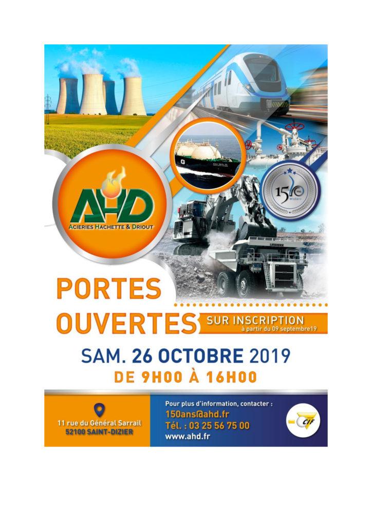 Portes ouvertes AHD 26/10/2019