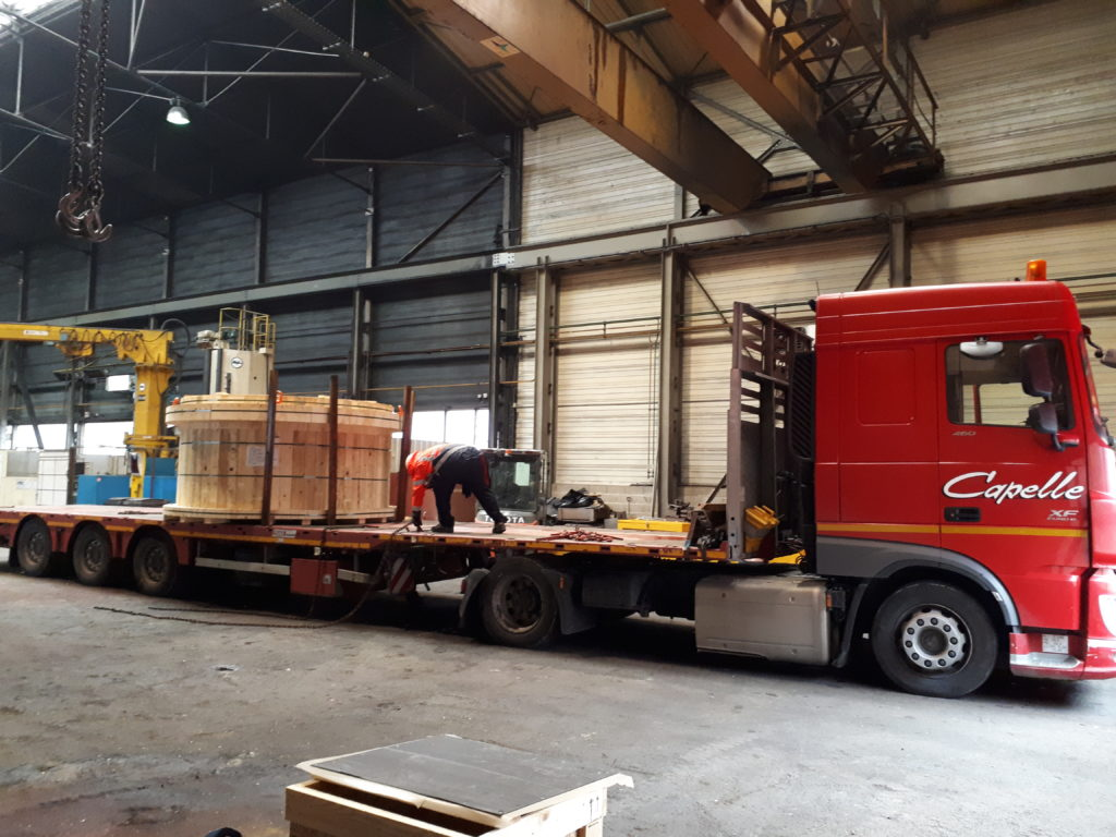 Emergency delivery time for trunnion